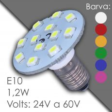 Led E10 - AC 24V, 60V, in harz
