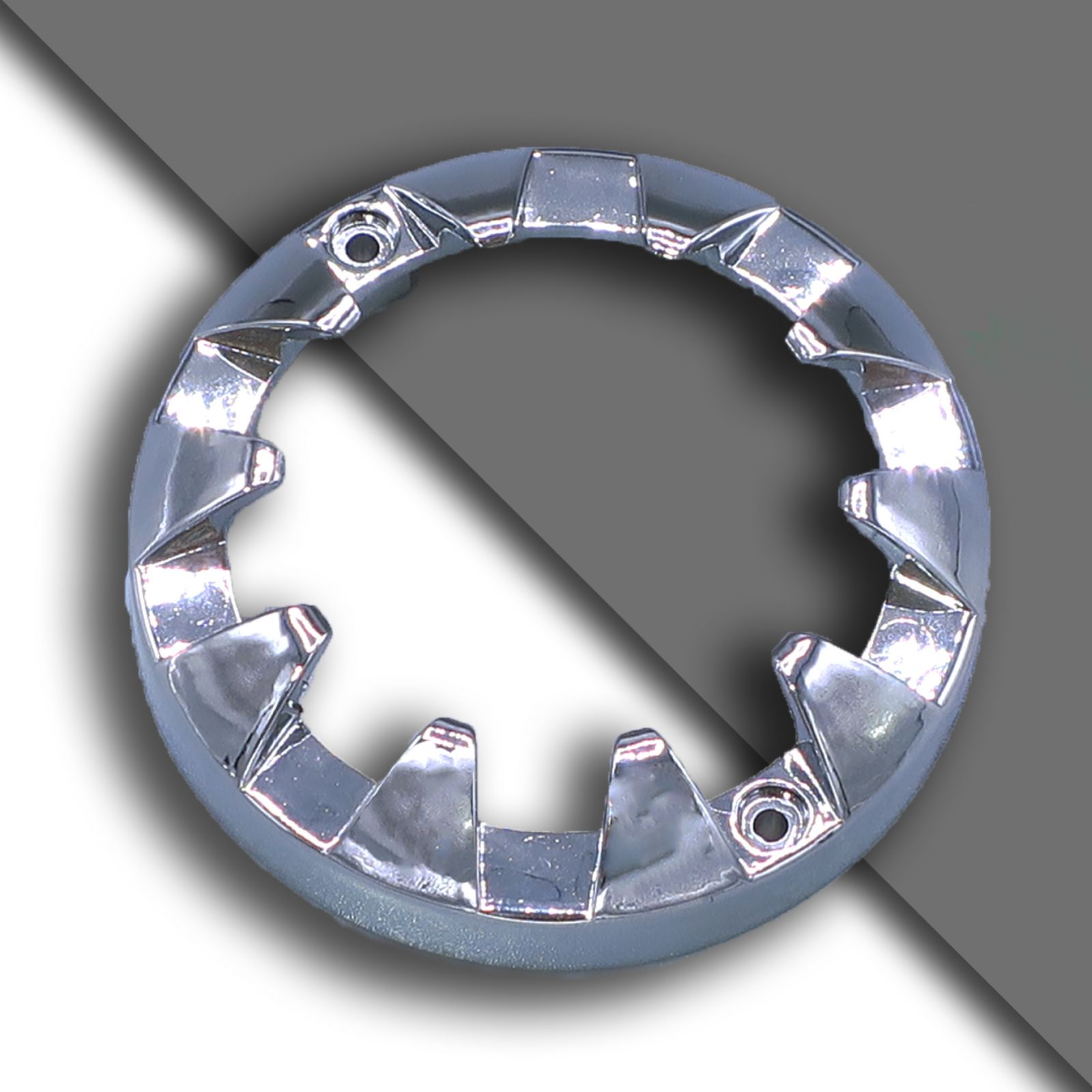 E14 dekorativ chromring klein 61mm