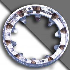 E14 dekorativ chromring groß 80mm