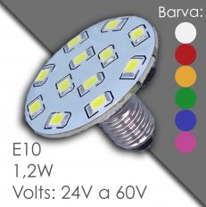 Led E10 - AC 24V, 60V, in gummi