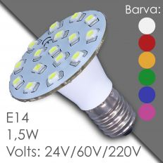 Led E14 - AC 24V, 60V, 220V, in harz
