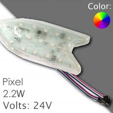 Led pixel RGB 130mm DC 24V, programmable