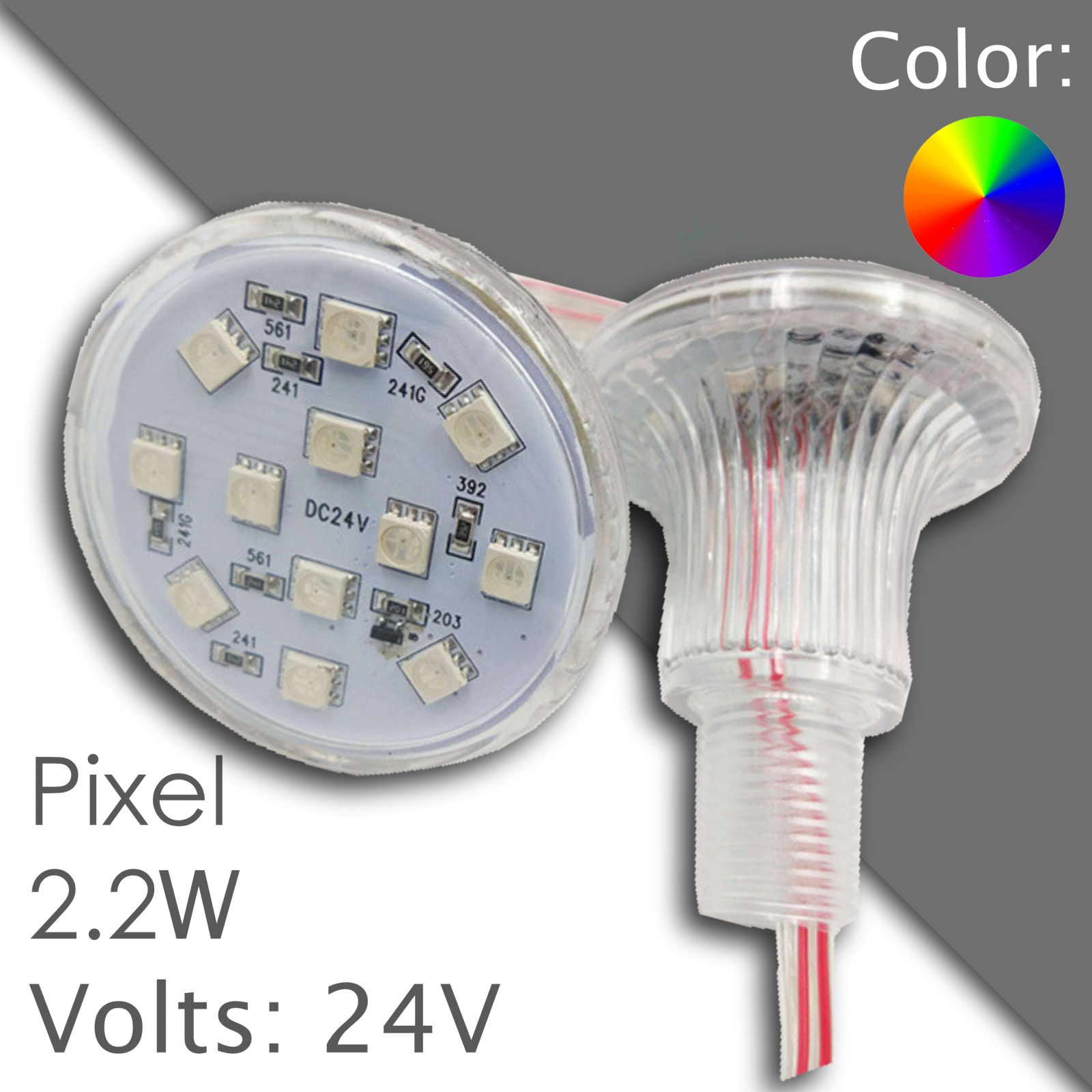 Led pixel RGB 60mm DC 24V, programmable 034