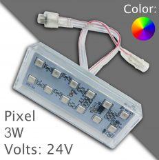 Led pixel RGB 90mm DC 24V, programmable
