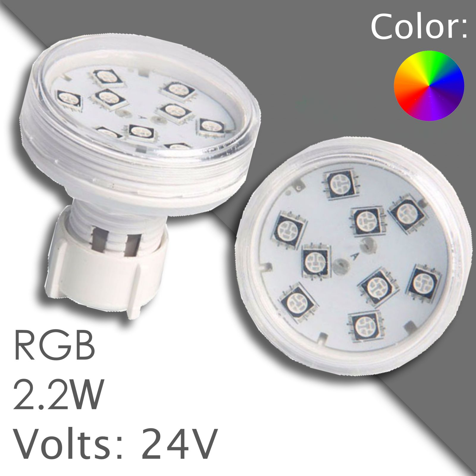 Led RGB 45/60mm automatic, wasserdicht
